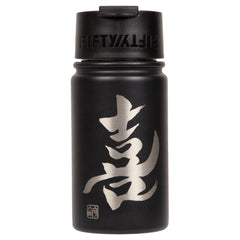 "12oz/354mL ""Joy"" Shodo Flip Top Bottle (Black) 