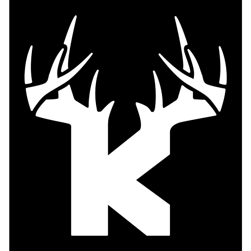 Bucks of Kansas Antler Logo Decal - White - Bucks of America
