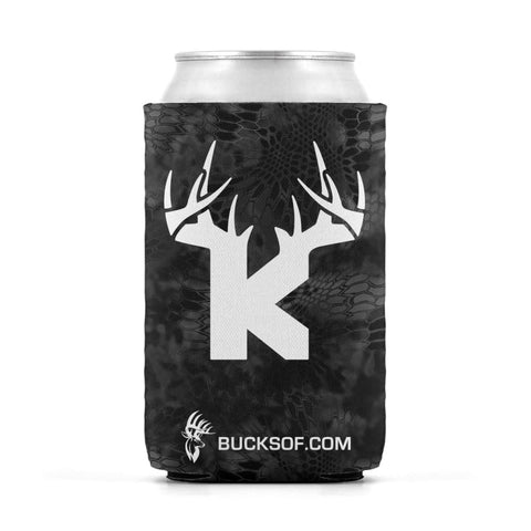 Bucks of Kansas Can Koozie White / Black - Bucks of America