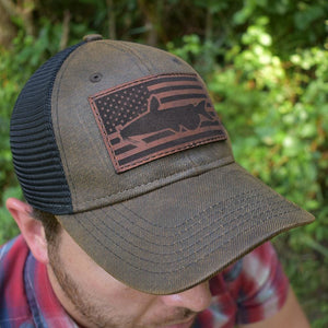 Catfish Flag Hat - Brown / Black