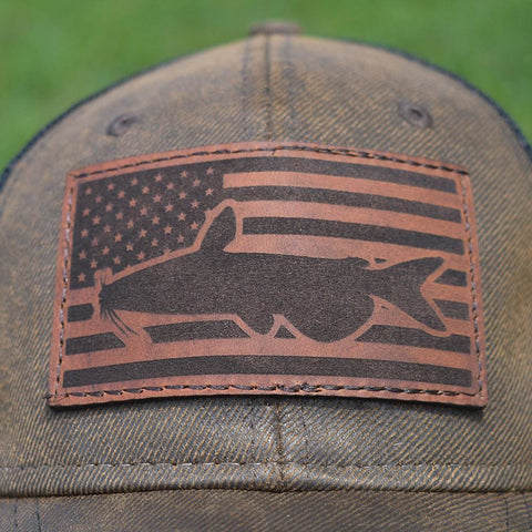 Catfish Flag Hat - Brown / Black - Bucks of America