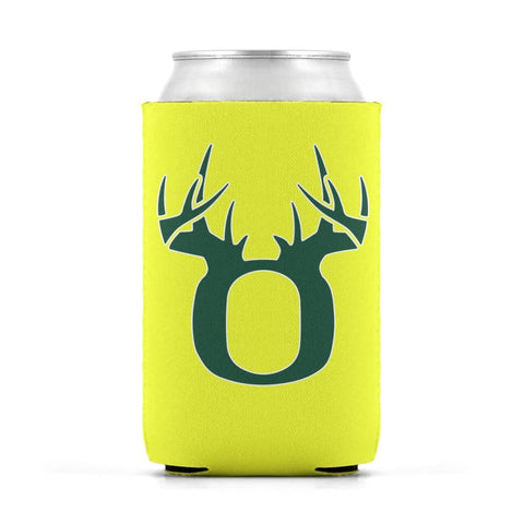Image of O Antler White/Green Can Koozie Can Sleeve - Drinkware