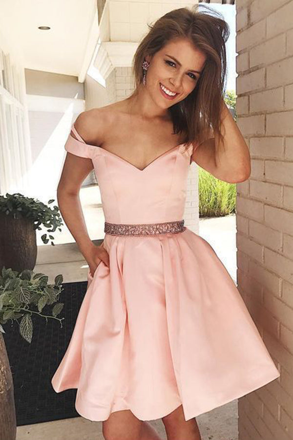 Gorgeous Sweetheart Neck A-line Knee Length Homecoming Dress M480