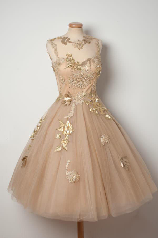 Pink Sheer Homecoming Dresses,Lace Up Appliques Beading Short Prom Dress