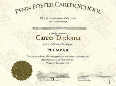 Career School, Vocational Diploma Certificate