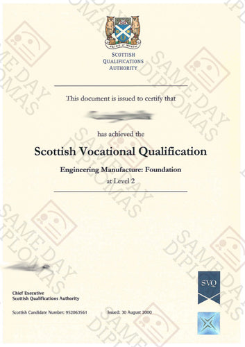 Certificate - Scottish Qualifications Authority