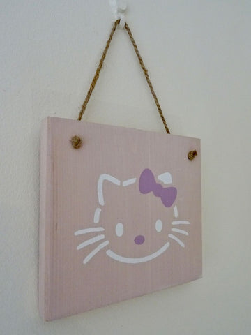 Hello Kitty Wooden Wall Decoration - Annie Sloan Chalk Paint