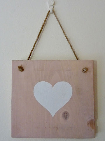 Love Heart Wooden Wall Decoration - Annie Sloan Chalk Paint