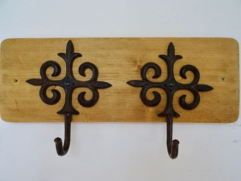 2 Hook Coat / Hat Rack