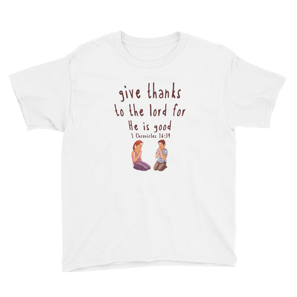 Give Thanks Youth Short Sleeve T-Shirt