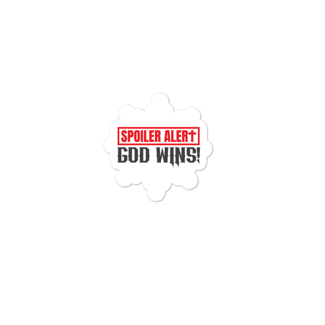 God Wins Bubble-free stickers
