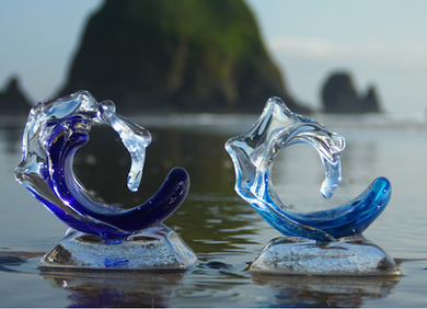 David Wight Glass Baby Wave