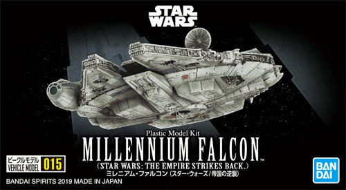 Bandai Star Wars Millenium Falcon Vehicle Model Kit 015 from Empire Strikes Back
