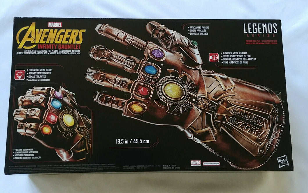 Marvel Legends Infinity Gauntlet Articulated Electronic Fist Avengers Hasbro