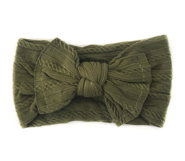Knotted Headband - Olive