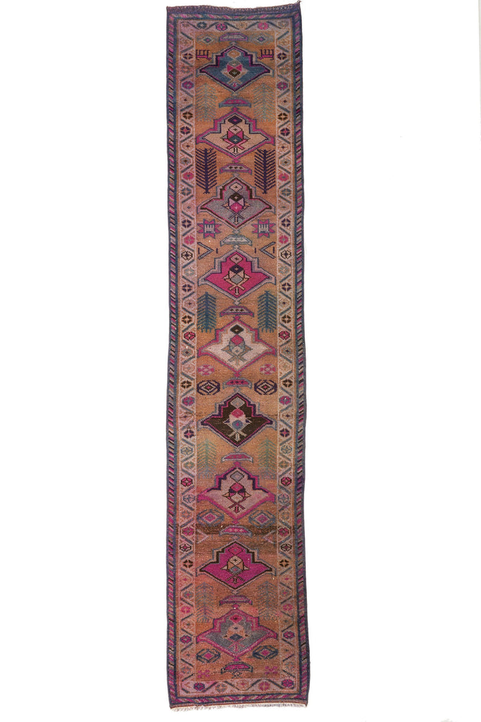 'Stardust' Vintage Turkish Runner - 2'6'' x 12'10'' - Canary Lane - Curated Textiles