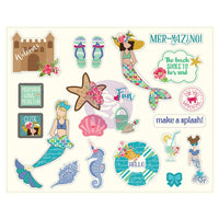 Julie Nutting Ephemera Cardstock Die-Cuts 42/Pkg - Mermaid Kisses