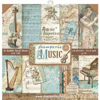 Stamperia - Music - Paper Pad 12
