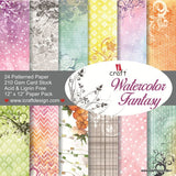 ICraft Paper Collection - Watercolor Fantasy