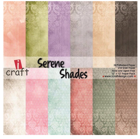 "ICraft Paper Collection - Serene Shades 12""x12"""