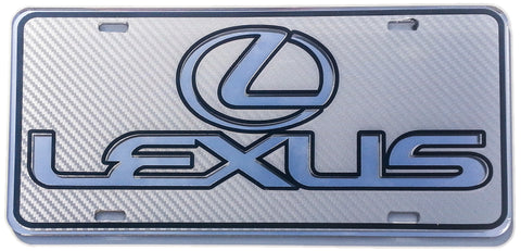 Lexus Carbon Fiber on Mirror Tag