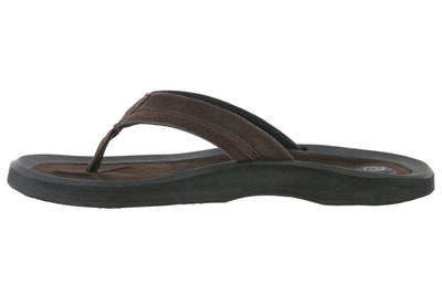 Rafters Tsunami Leather Flip Flop Chocolate