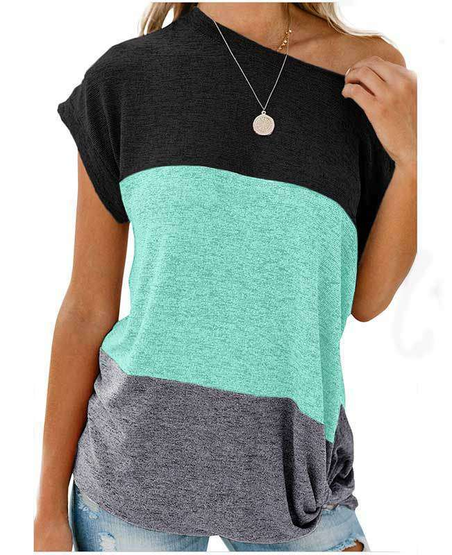 Color Block Womens Shirts