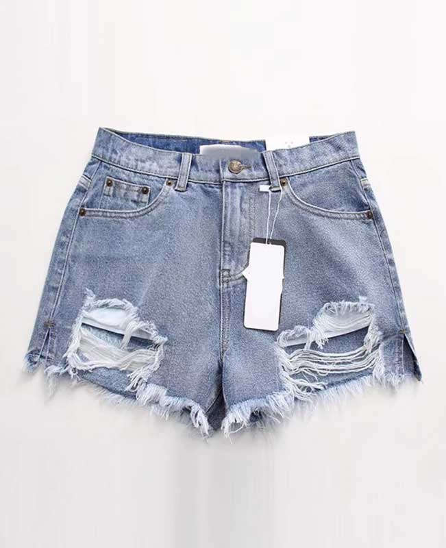 Push Up Ripped Jeans Shorts
