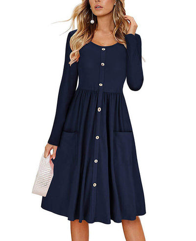 Shop midi swing dress at Seamido.com and receive free shipping over $35. Complete your wardrobe with our swing dresses.-2