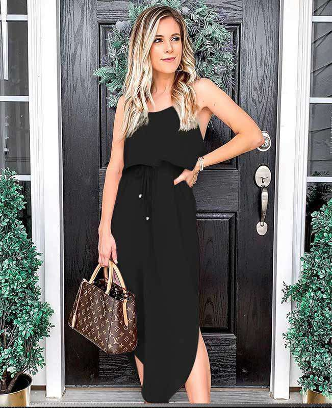 Strappy Sleeveless Midi Dress
