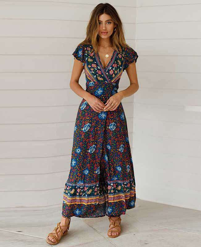 Women's Bohemian Warp Dress