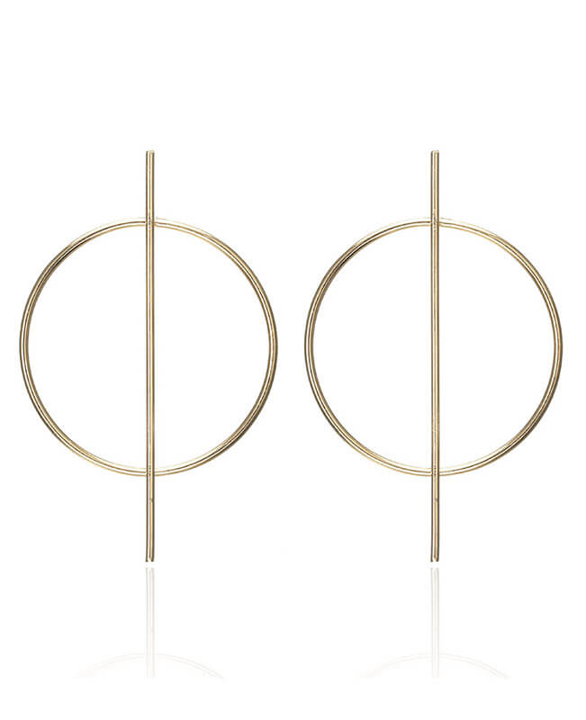 Fashion Gold Dangle Circle Earring