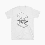 Isometric Pi Tee (White)