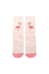 Flamingo pink knee high socks.  Theses are sure to stand out as they're just so cute!  Perfect in summer with skirts and dresses and equally fab over tights in the winter.   Cotton 85% / Elastane 15%
