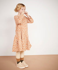 Milk and biscuits asymmetric dress available in ireland tabby print cat dress 100% cotton