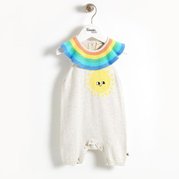Knit Sunshine Playsuit with Rainbow Collar