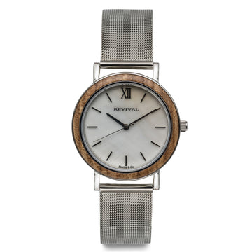 Silver Axewood Valor - Mother of Pearl Dial