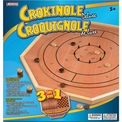 Crokinole Deluxe 3 in 1 Game