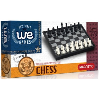 "Buy Chess - 8"" Magnetic Folding Small Travel Size - Wood Expressions and more Great Board Games Products at 401 Games"