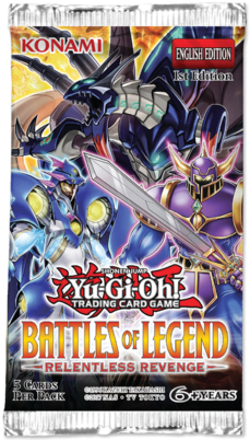 Buy Yugioh - Battles of Legend - Relentless Revenge Booster Pack and more Great Yugioh Products at 401 Games