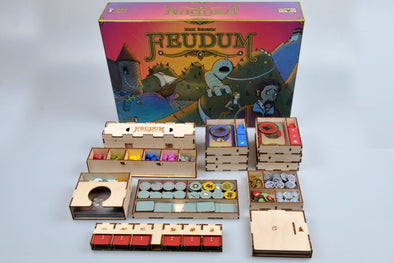 Buy Meeple Realty - Feudum - Box Insert and more Great Inserts and Overlays Products at 401 Games