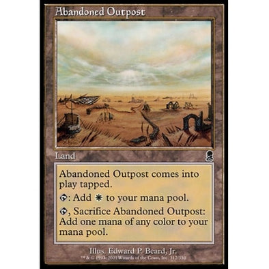 Buy Abandoned Outpost and more Great Magic: The Gathering Products at 401 Games