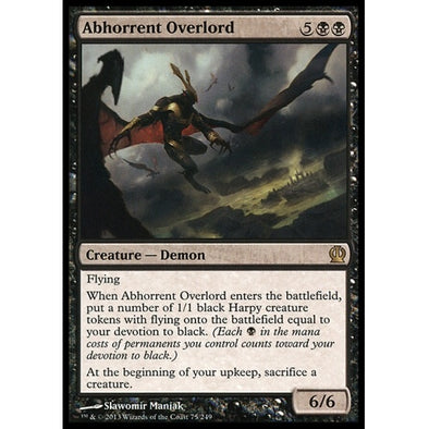 Buy Abhorrent Overlord (THS) and more Great Magic: The Gathering Products at 401 Games