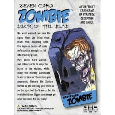 Buy Zeven Card Zombie (no restock) and more Great Board Games Products at 401 Games