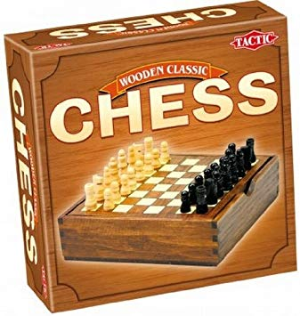 Chess - Handy Wooden Box - Wooden Classic