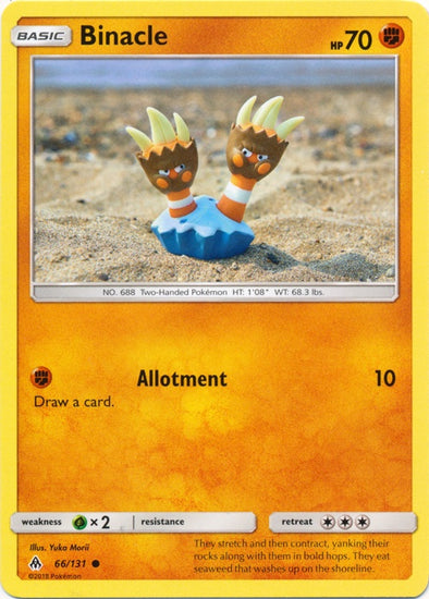 Buy Binacle - 66/131 and more Great Pokemon Products at 401 Games