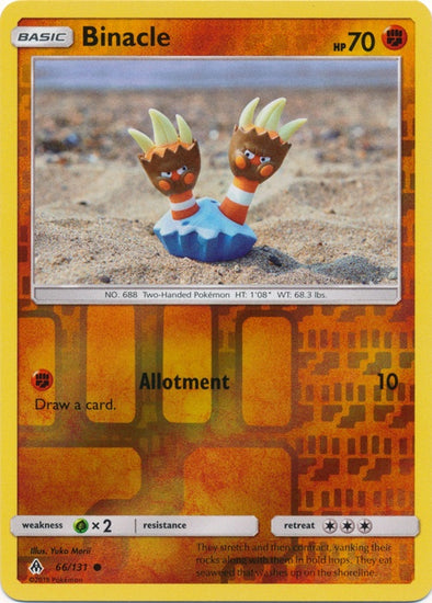 Buy Binacle - 66/131 - Reverse Foil and more Great Pokemon Products at 401 Games