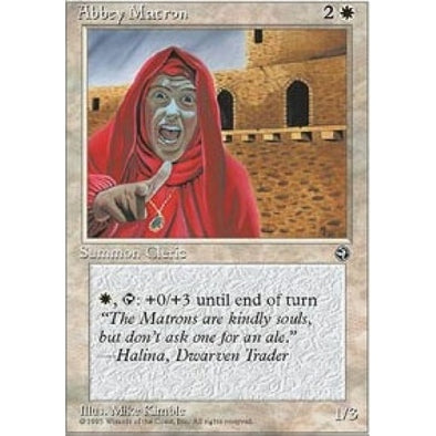 Buy Abbey Matron (Hood) (HML) and more Great Magic: The Gathering Products at 401 Games
