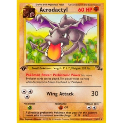Buy Aerodactyl - 16/62 - 1st Ed (1fos) and more Great Pokemon Products at 401 Games