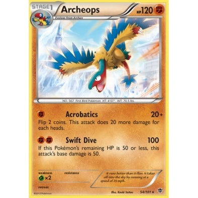 Buy Archeops - 54/101 - Reverse Foil and more Great Pokemon Products at 401 Games